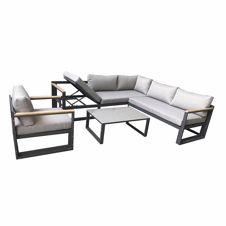 Canapé de jardin de meubles d'extérieur en aluminium