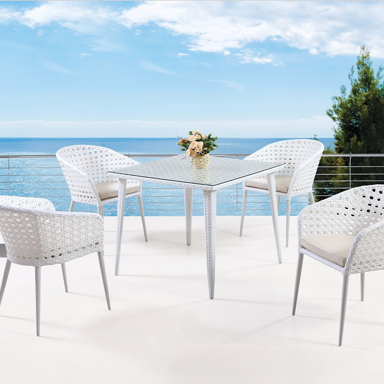 Wicker Patio Furniture With Table Set