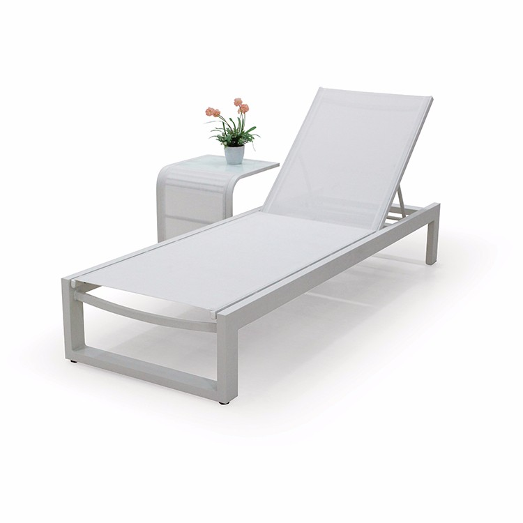 Outdoor Aluminum Chaise Lounge Pool Chairs