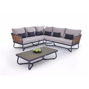 L Shaped Outdoor Couch Modular Garden Sofa