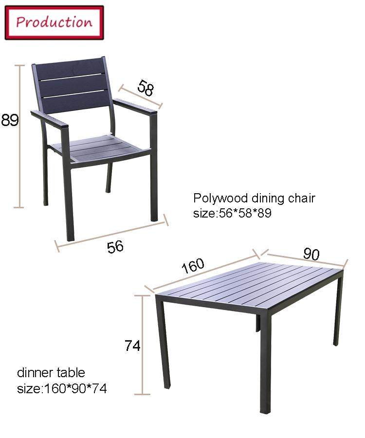 طاولة فناء مربعة لـ 4