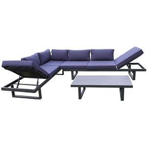 Outdoor Porch Furniture Aluminum Garden Sofa