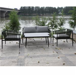 Wicker Outdoor Furniture Corner Garden Sofa