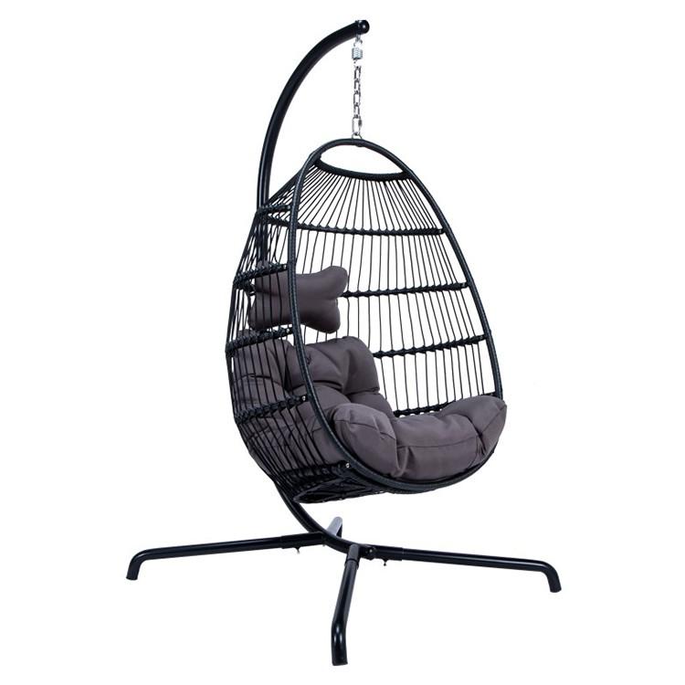 كرسي معلق حبل قابل للطي في الهواء الطلق