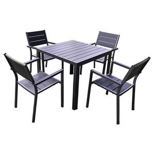 Mesa e cadeira pequena para pátio de lazer
