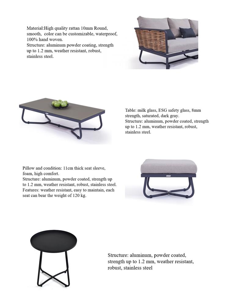 rattan sofa dining set