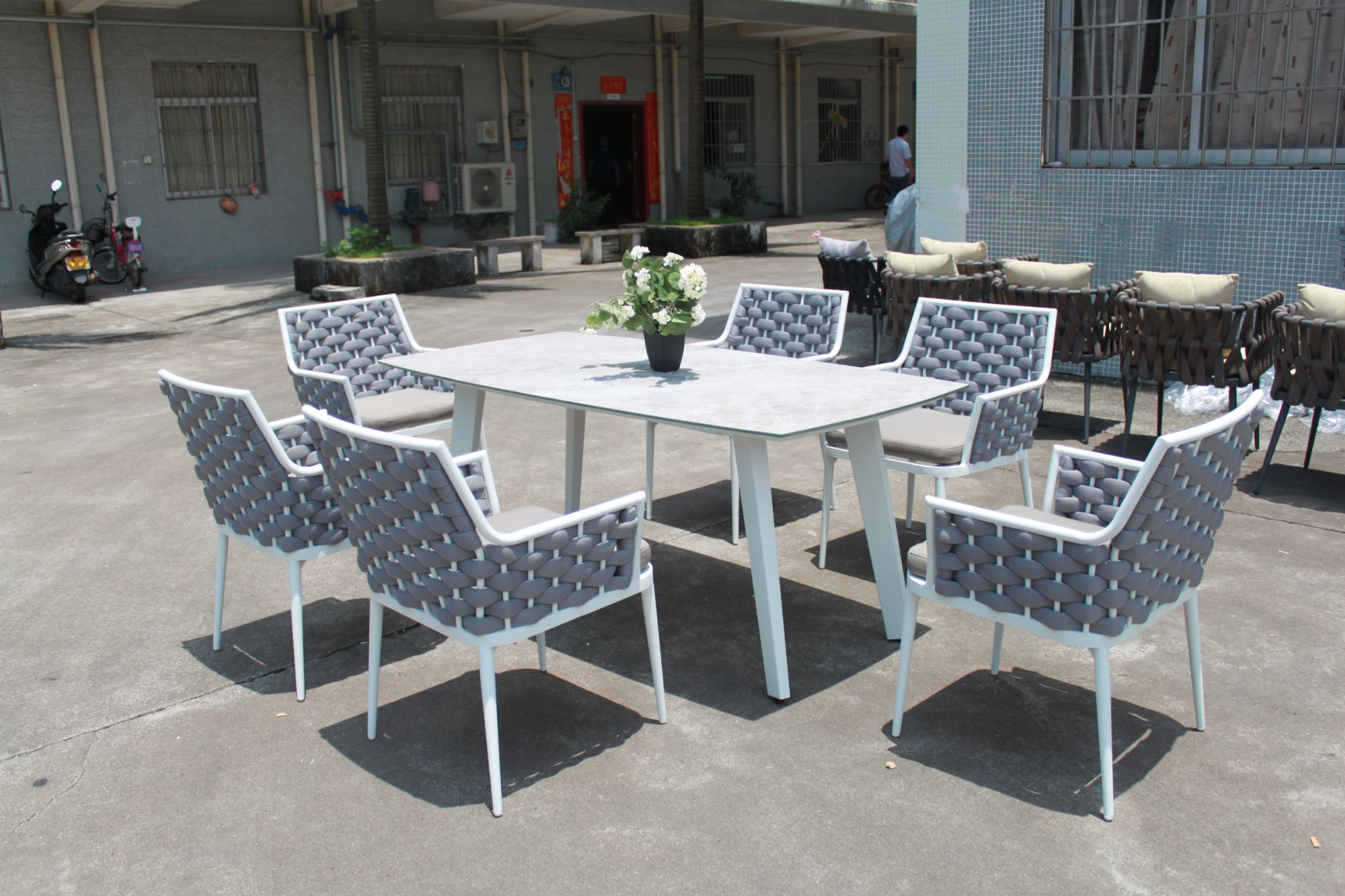 Outdoor Rope Dining Table And Chairs Manufacturers, Outdoor Rope Dining Table And Chairs Factory, Supply Outdoor Rope Dining Table And Chairs