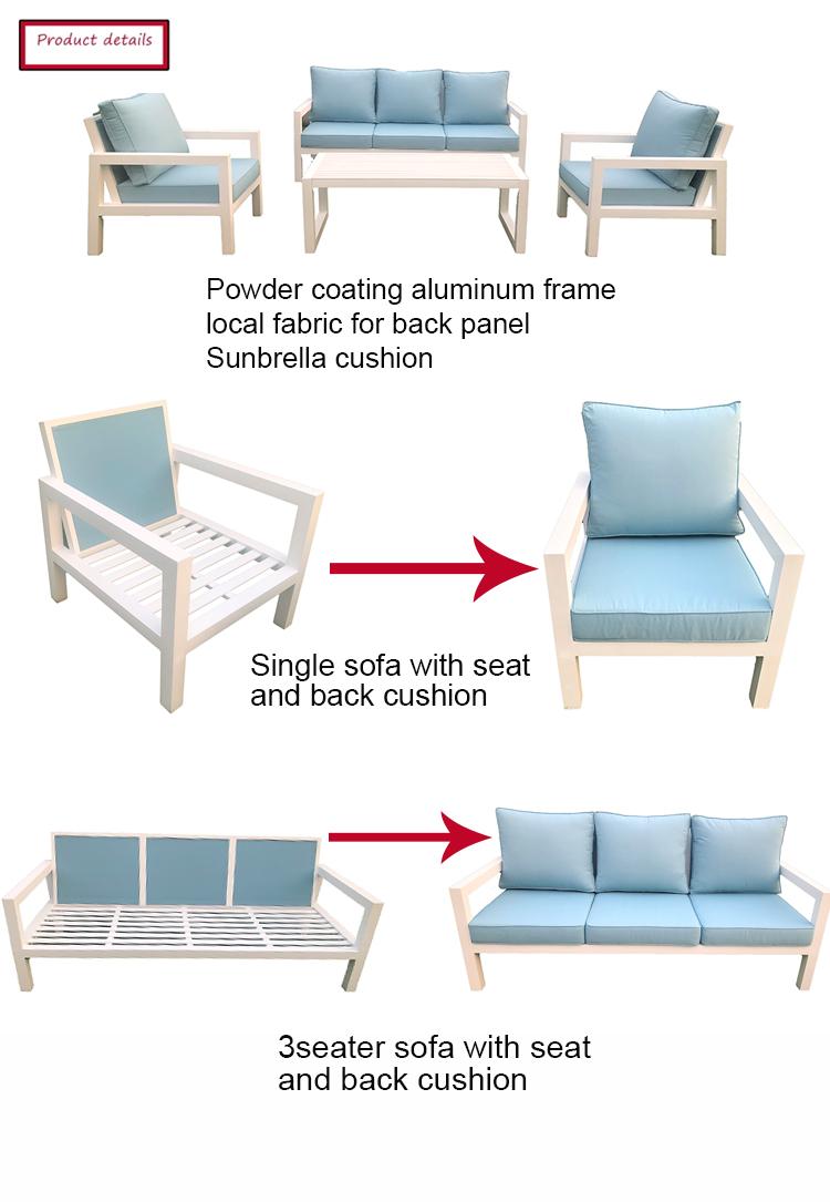 outdoor aluminium furniture sofa