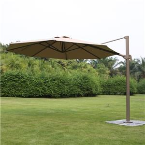 Outdoor Parasol With Aluminium Pole With Cross Base