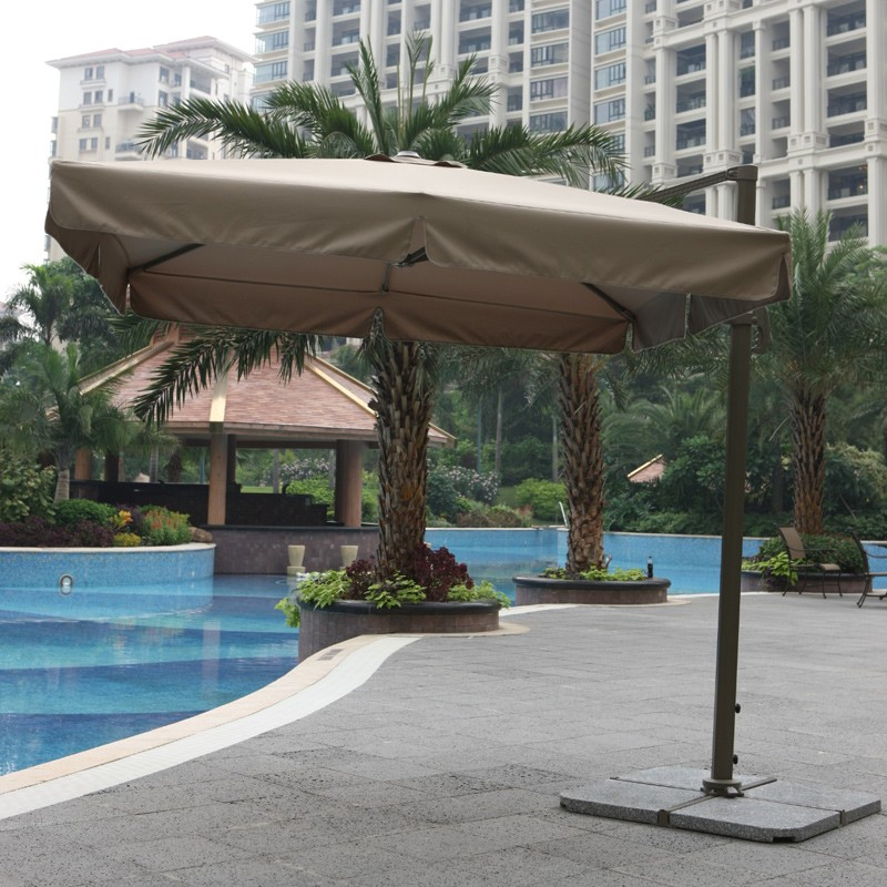 Outdoor Furniture Garden Double Canopy Umbrella Parasol