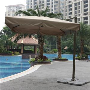 Outdoor Furniture Garden Double Canopy Umbrella Parasol