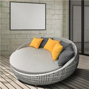 Outdoor wicker daybed / round daybed
