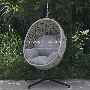 Outdoor KD Patio Swings Egg Hanging Chair