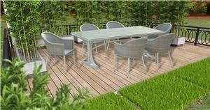 Fornecedor de conjuntos de mesa de jantar ao ar livre