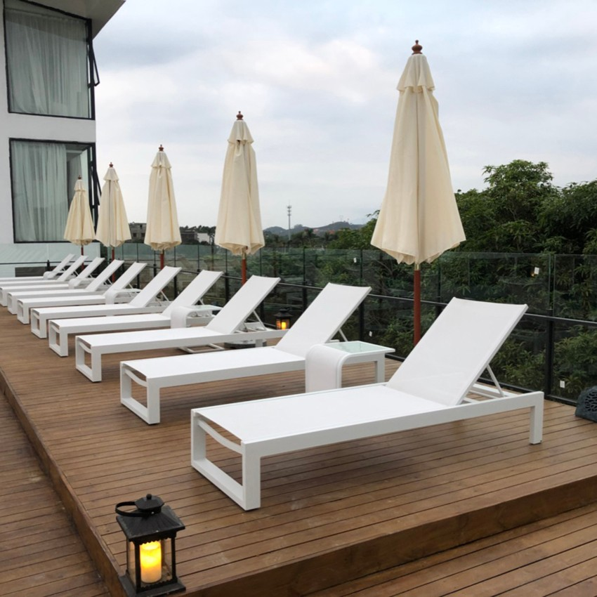 Aluminum Chaise Lounge Chair Outdoor Sofa