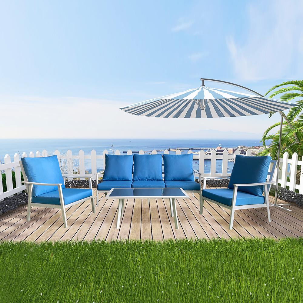 Promoción de muebles de jardín de sofá al aire libre