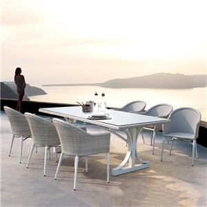 China Factory Rattan Outdoor Dining Set