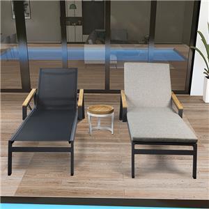 كرسي استرخاء قابل للتعديل في الهواء الطلق