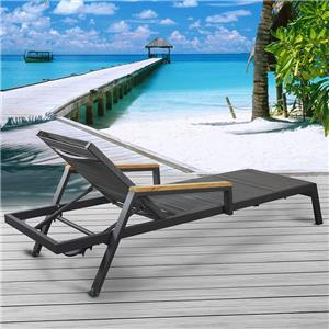 Textline Padding Sunlounge Aluminium Outdoor Chaise Lounge