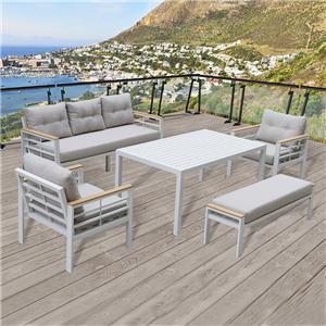 Power Coated Aluminum Furniture Garden Sofa Set