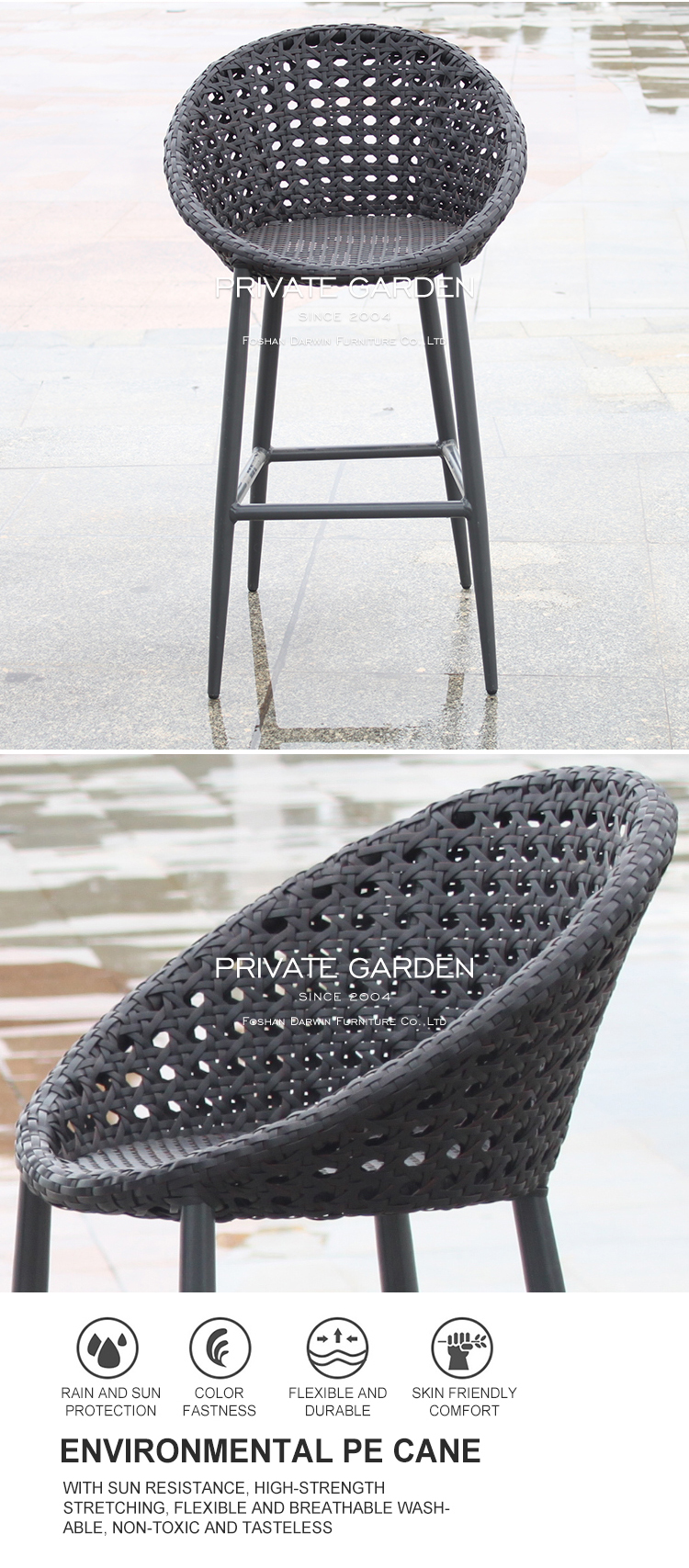 China outdoor bar table and stools
