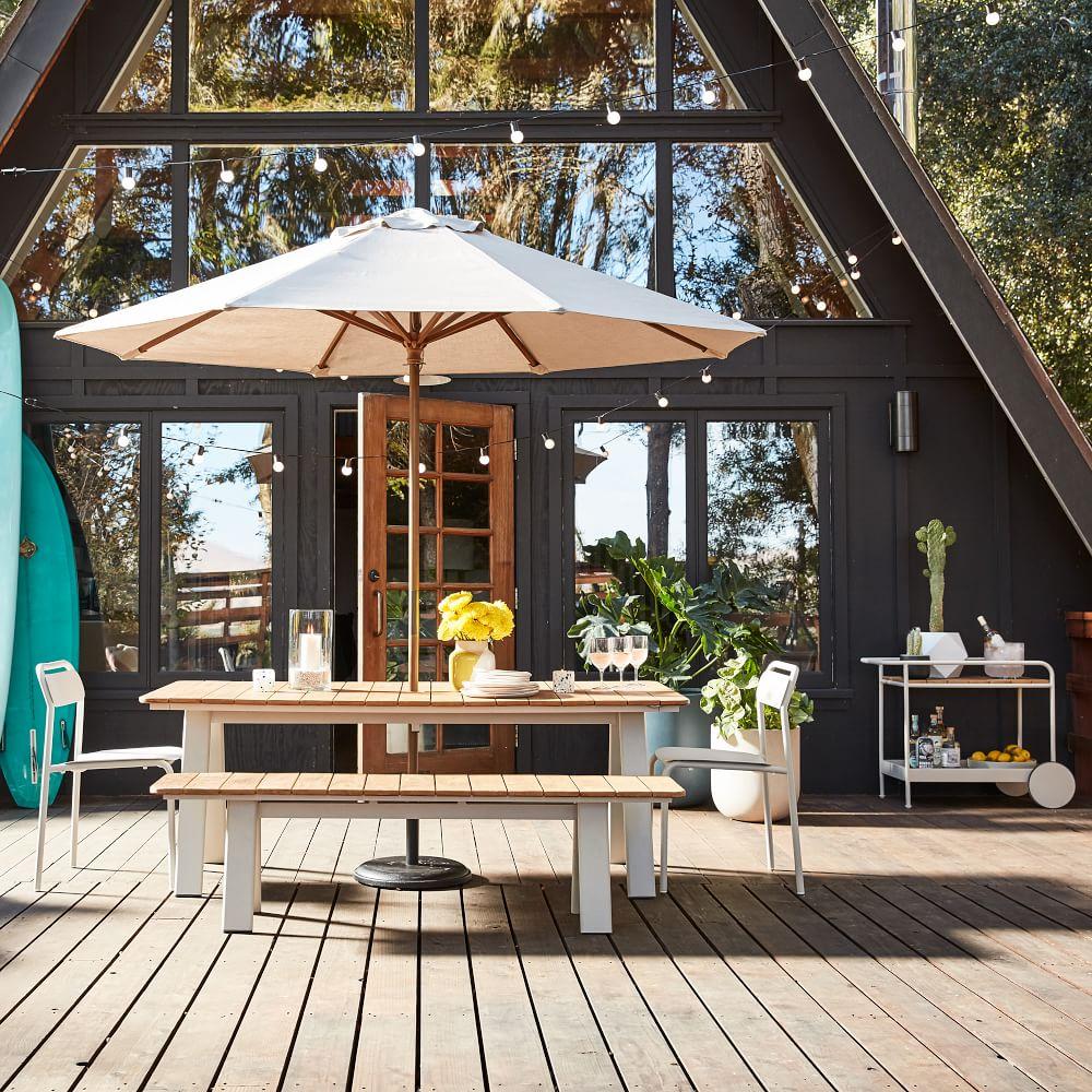طاولة ومقاعد خارجية polywood