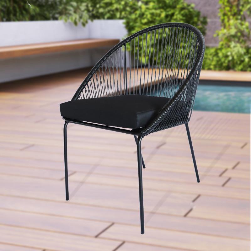 moderno patio in rattan set sedie da pranzo