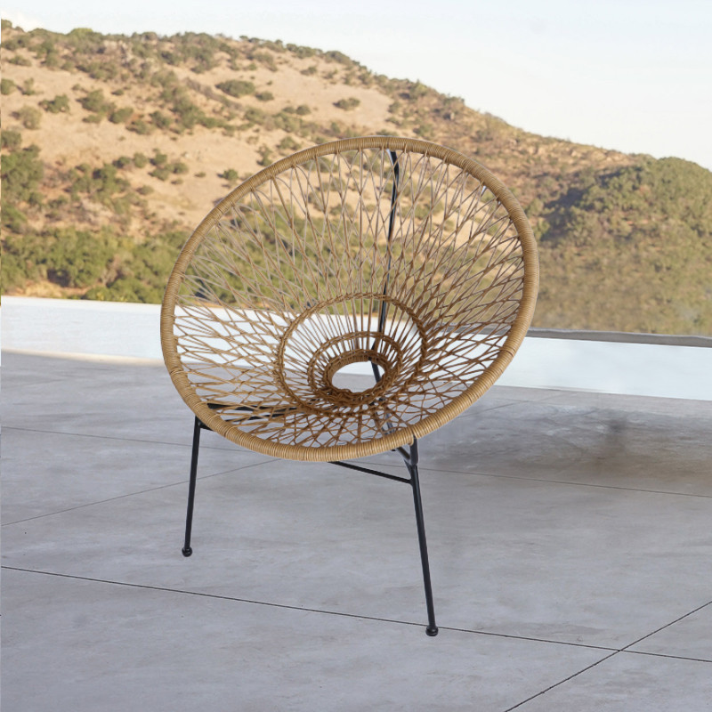 nuovo modello di sedie da giardino in vimini da giardino in rattan