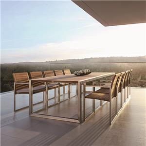 aluminum large outdoor dining table set for 10