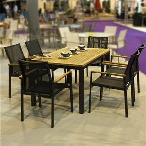wooden garden dining set for 6 on sale
