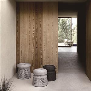corda redonda moderna mesa lateral otomana