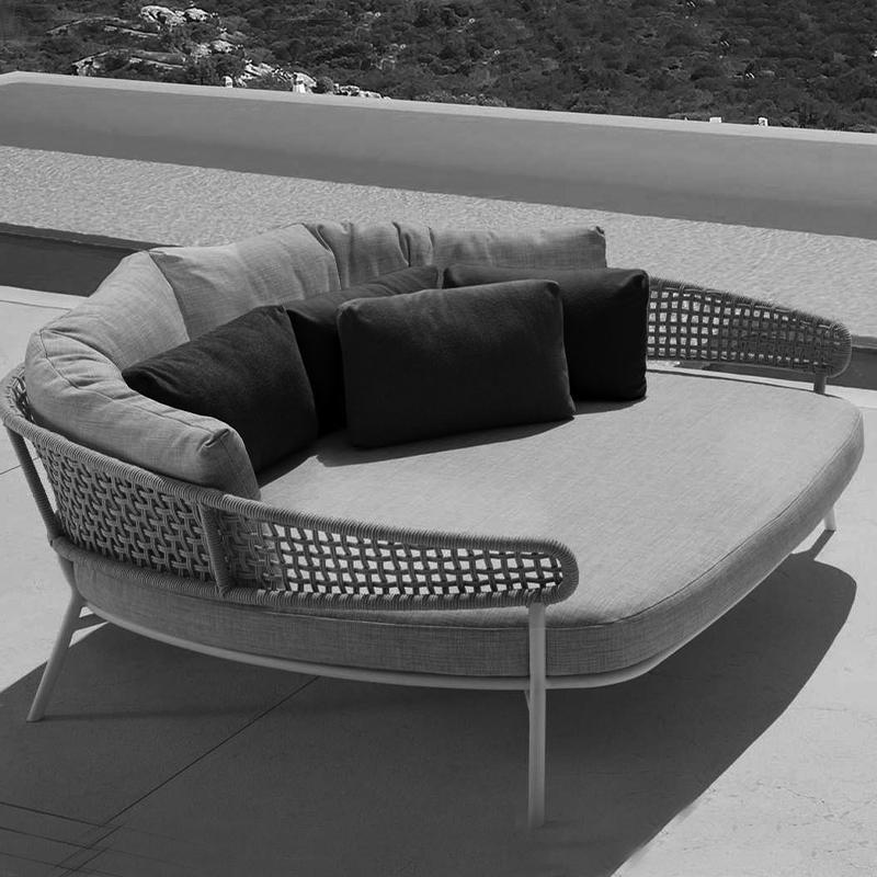 sofá-cama moderno de alta qualidade ao ar livre