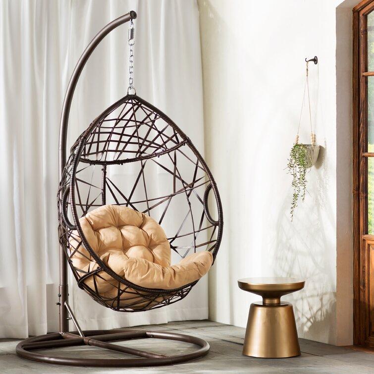 Cadeira giratória de ovo Darwin com suporte