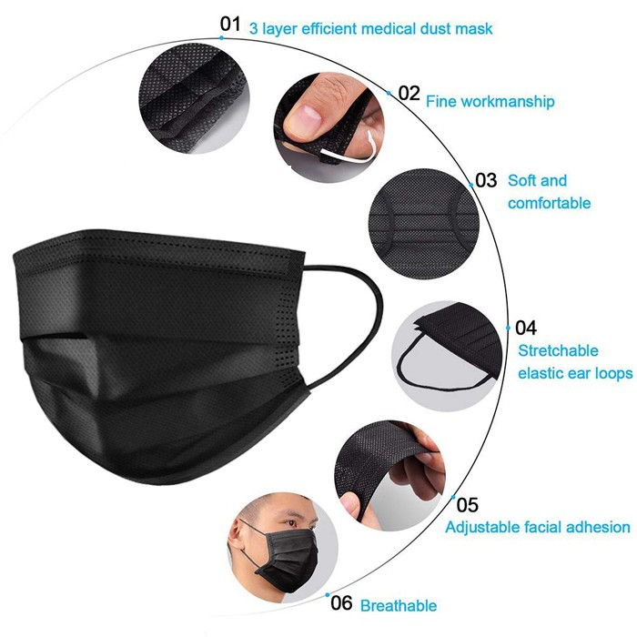 Xiantao 23 Years' Factory Disposable Black Surgical Mask Black Mask All Black Surgical Mask Manufacturers, Xiantao 23 Years' Factory Disposable Black Surgical Mask Black Mask All Black Surgical Mask Factory, Supply Xiantao 23 Years' Factory Disposable Black Surgical Mask Black Mask All Black Surgical Mask