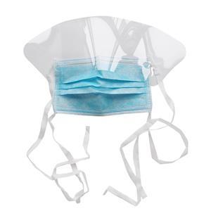 Healthcare Hospital 3-fach nicht gewebte Dental Shield Mask-Gesichtsmaske mit Kunststoff-Augenschutz