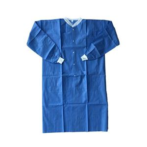 SMS Blue Color Disposable Nonwoven Lab Coat Antistatic Lab Coats Esd Lab Coats