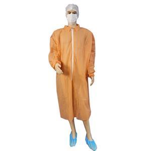Xiantao Cleanroom Workshop Disposable Coats For Visitors Unisex Lab Coats Visitor Coats With Zipper