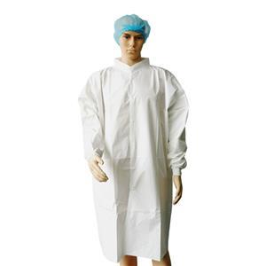 Wholesale Microporous Nonwoven Lab Coat White Lab Coats Disposable Smocks