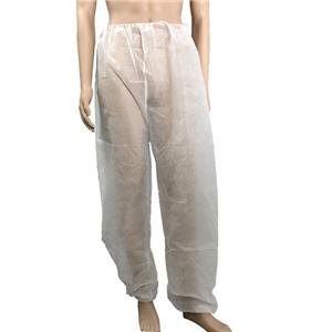 Non Woven PP Pants Polypropylene Trousers Disposable Pants With Elastic Waist