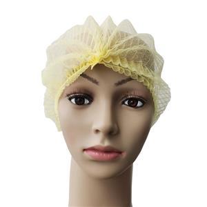 Cleanroom Workshop Polypropylene Disposable Mop Cap Crimped Hairnet Pleated Caps
