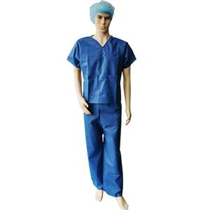 EN13795 SMS Disposable Surgical Scrub Suits Operating Theater Sets Patient Gown
