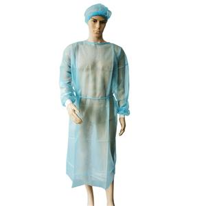 SPP Disposable Long Sleeve Isolation Gown Polypropylene Surgeon Gown With Tie Closure Cover Gown