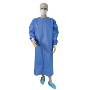 CE ISO FDA Approved Disposable Nonwoven Medical Surgical Gown Blue Surgical Gown