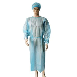 PP+PE isolation coverall gown medical disposable gown nonwoven fabric disposable cloak for visitors