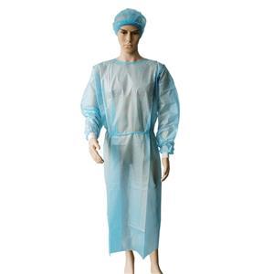 PP + PE Isolation Overall Kleid medizinisches Einwegkleid Vliesstoff Einwegmantel für Besucher
