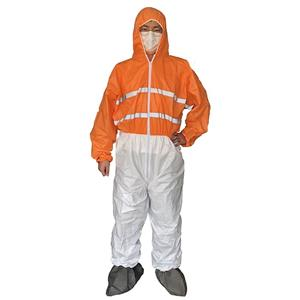 Microporous Disposable Nonwoven Waterproof Working Coverall High Visibility Coverall Mine Safety Clothing