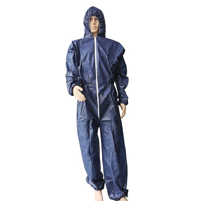 CE ISO FDA Approved Factory Polypropylene Coverall Buckles Disposable Coverall PP With Hood Work Overall