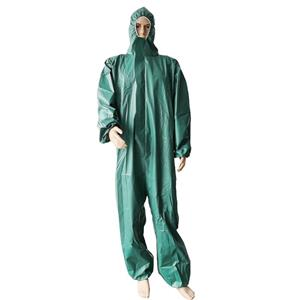 China Exporter Microporous Coverall Waterproof Protective Clothing Jumpsuits With Hats