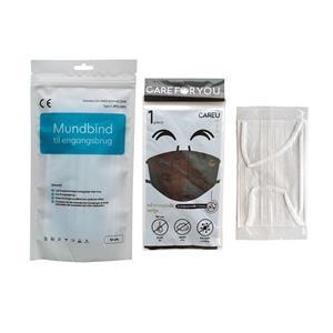 Beutelverpackung 3-fach entsorgen medizinische Gesichtsmaske Mundabdeckungen Ohrschleife Gesichtsmaske