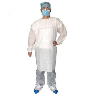 Wholesale Single Use Poultry Smock PP Chemotherapy Gowns Surgeon Gown With Back Closure